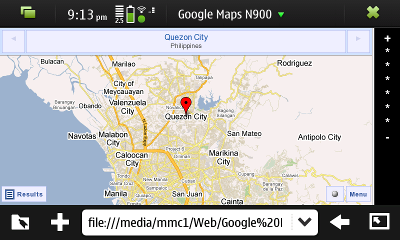Screenshot 20100118 211357 - Google Maps on N900