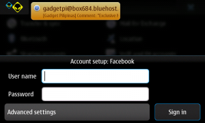 Adding Facebook Account on N900