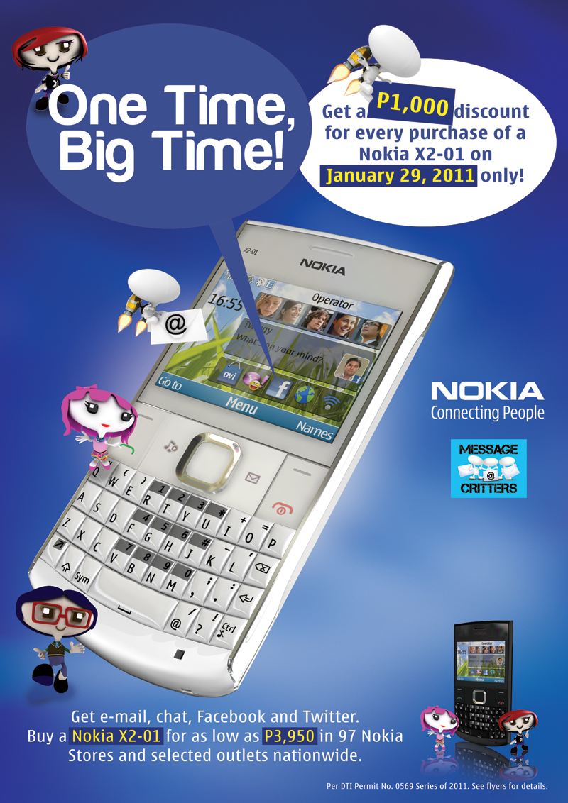 Nokia x2 01 hits store shelves tomorrow dont miss the big discount nokia x2 01 sale poster gumiabroncs Choice Image