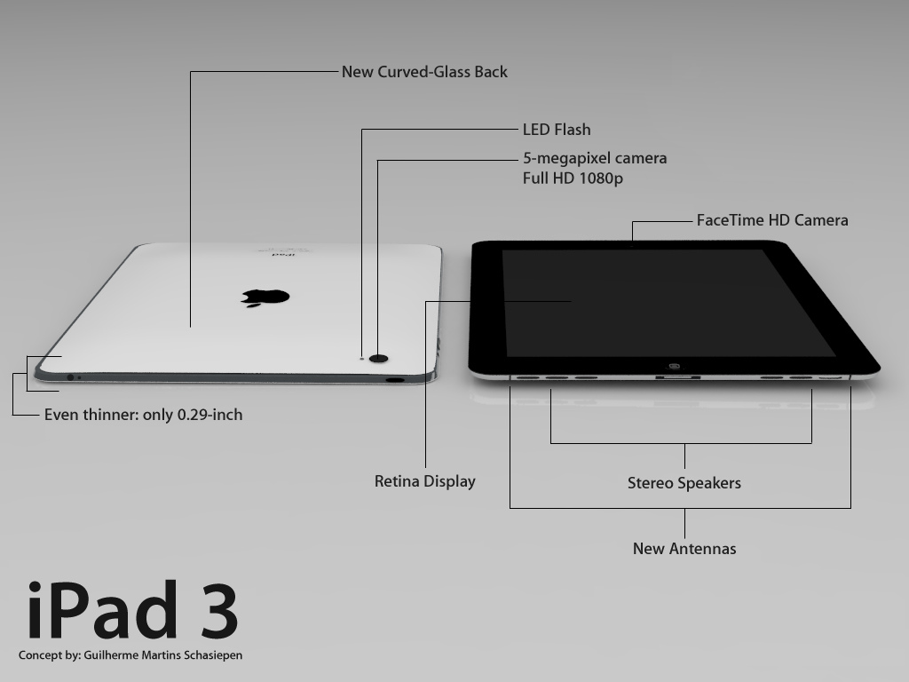 iPad 3 concept 10 Guilherme Martins Schasiepen 1 - The Next iPad, A Fearless Forecast