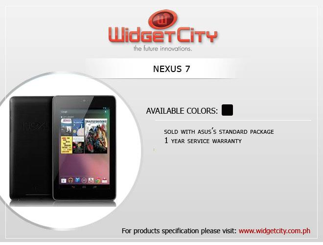 318844 10151009850114862 1317470969 n - Widget City Starts Selling Nexus 7 Tablet