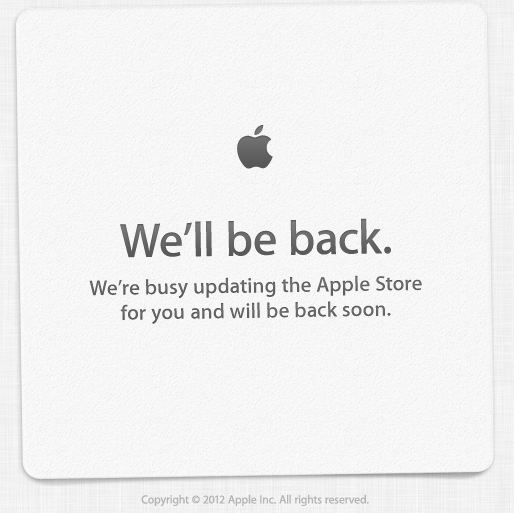 Apple Store - Apple Store is Down, Just in Time for the iPad Mini Launch?