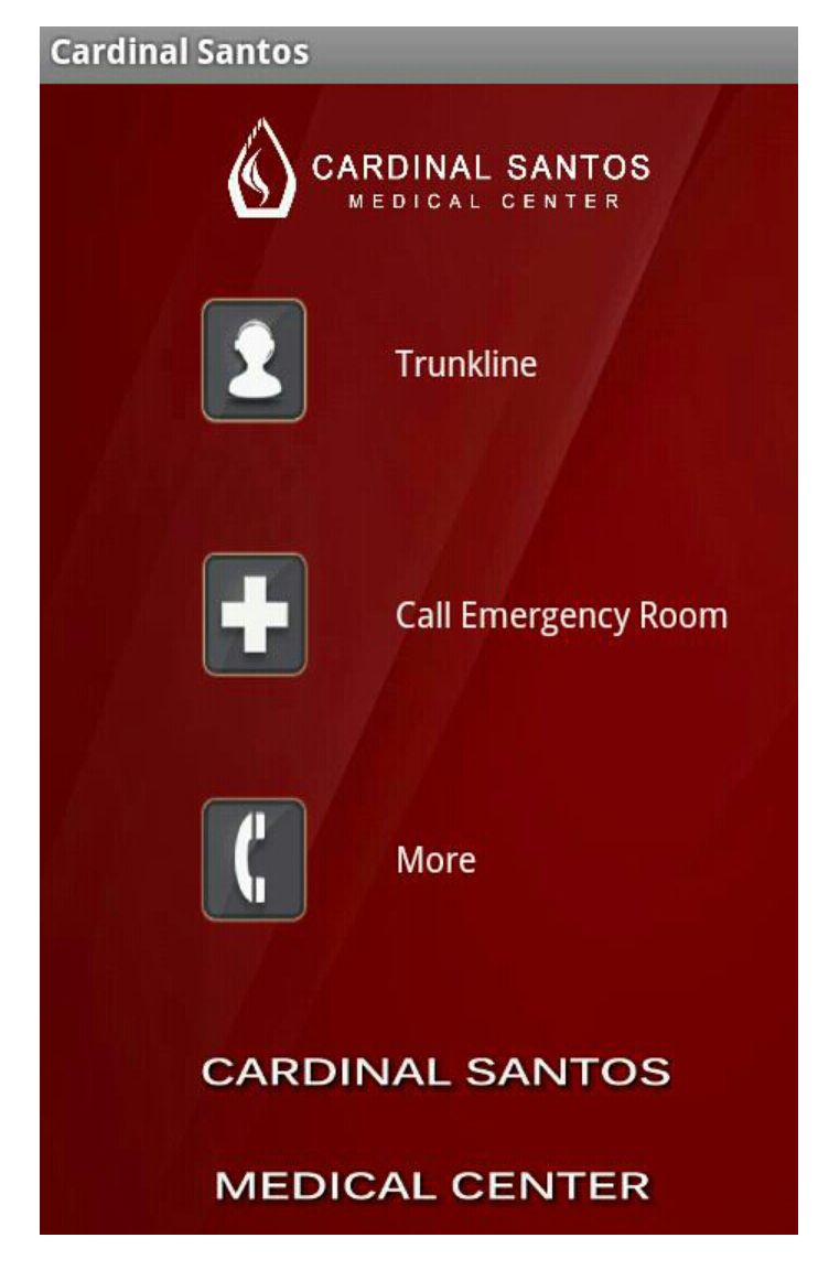 CSMC Mobile App, Medical App, Emergency Number, Cardinal Santos