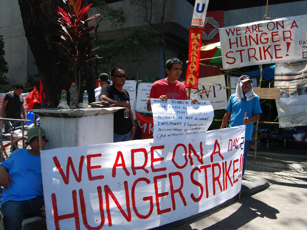PLDT, Digitel, DEU, Protest, Labor Union