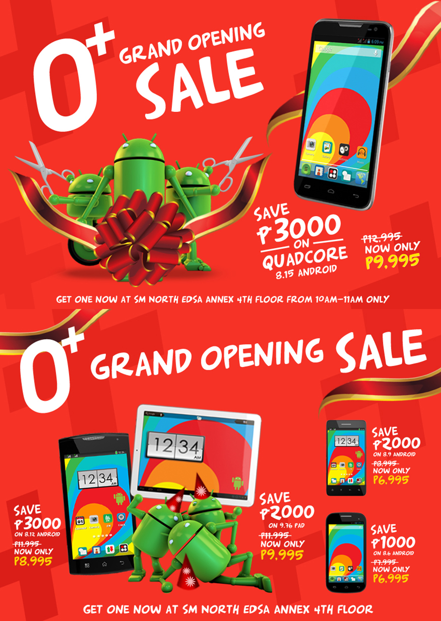 Grand Opening Sale - O+ To Open First Concept Store at SM North Edsa