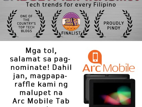 Tatt Awards 2013, Gadget Pilipinas, Arc Mobile