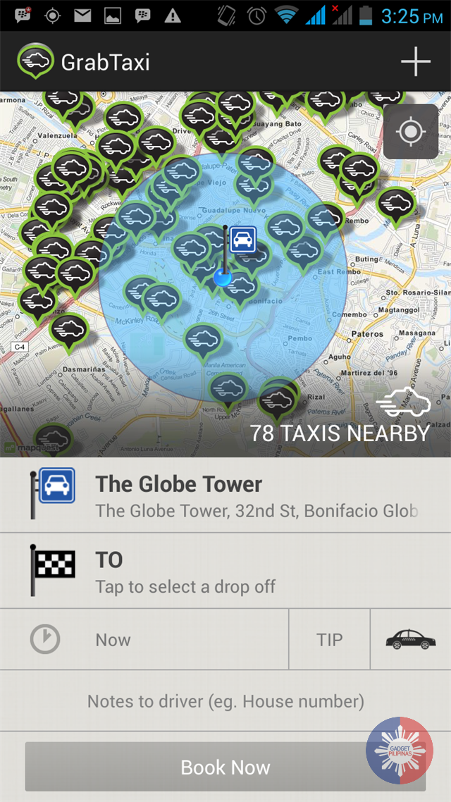 A sample screen grab - Press Release: Grab a Cab, Share Some Love
