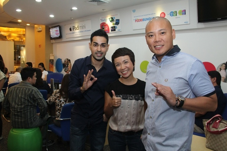 Boys Night Out DJs Sam YG and Tony Toni with Smart Postpaid head Kathy Carag