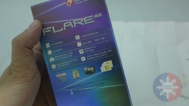 Cherry Mobile Flare HD Unboxing 3 640x360 - Cherry Mobile Flare HD Unboxing and First Impressions