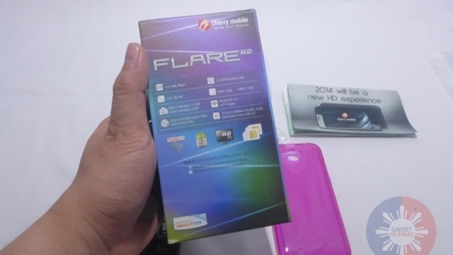 Cherry Mobile Flare HD Unboxing 4 640x360 - Cherry Mobile Flare HD Unboxing and First Impressions