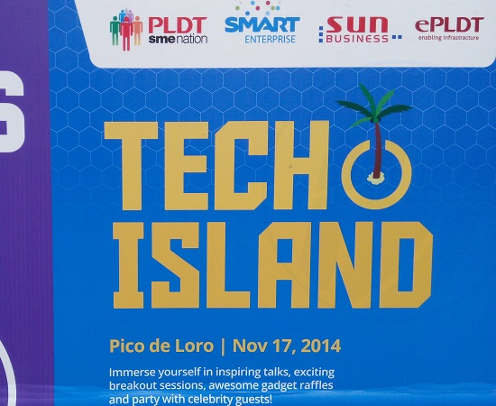 PLDT Tech Island poster - PLDT hosts successful 'Tech Island' event for SMEs and local media at Pico de Loro