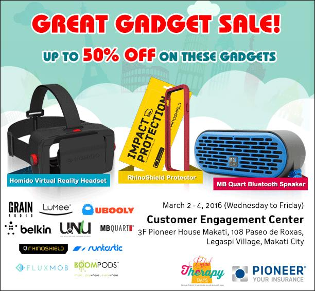 , Pioneer Retail Therapy offers 50% discount on gadgets, Gadget Pilipinas