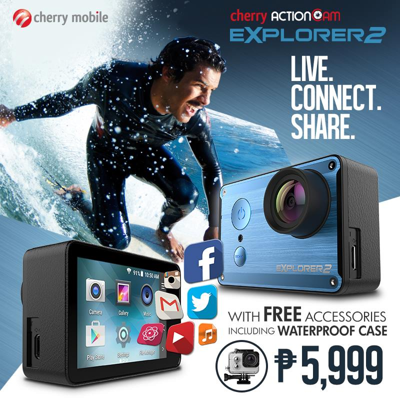 , Android rocking Cherry Action Cam Explorer 2, Now Available, Gadget Pilipinas