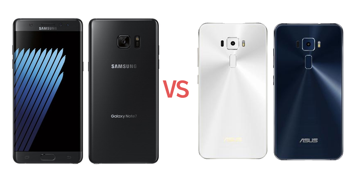 note 7 vs zenfone 3 - Specs-Battle: Samsung Galaxy Note 7 vs ASUS Zenfone 3