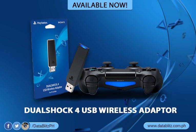 PS4 DualShock 4 USB Wireless Adaptor Now Available in DataBlitz!
