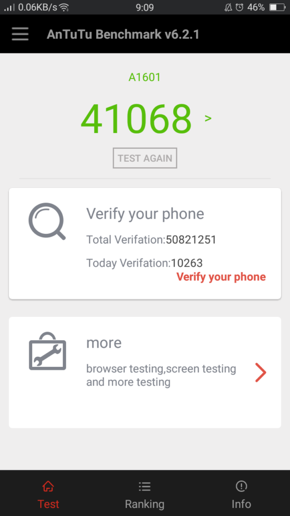 f1s antutu score 576x1024 - OPPO F1s Review: A Stylish Performer