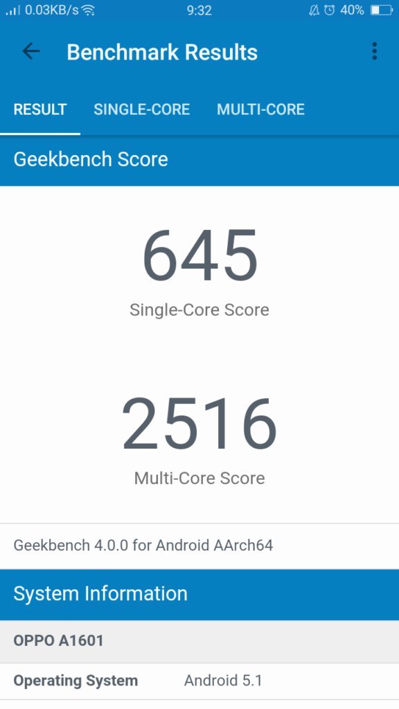f1s geekbench4 score 576x1024 - OPPO F1s Review: A Stylish Performer