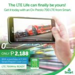 O+ Presto 700 LTE Now Available From Smart: Comes With Monthly Free Data and Load Rewards
