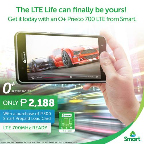 Smart Prepaid presto 700 - O+ Presto 700 LTE Now Available From Smart: Comes With Monthly Free Data and Load Rewards