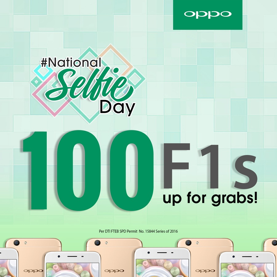 OPPO NATIONAL SELFIE DAY FA v4 - OPPO Celebrates #NationalSelfieDay by Giving Away 100 F1s Units!