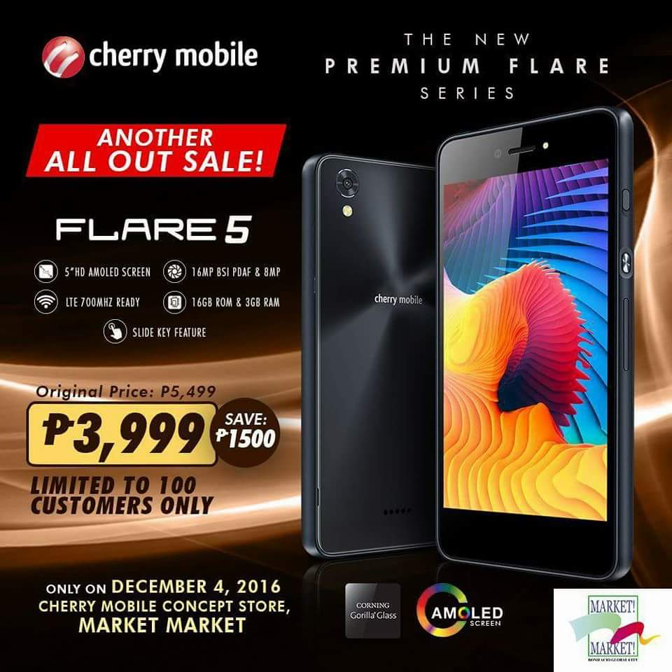 flare5 01 - Get a Cherry Mobile Flare 5 for Only PhP 3,999 on December 4, 2016!