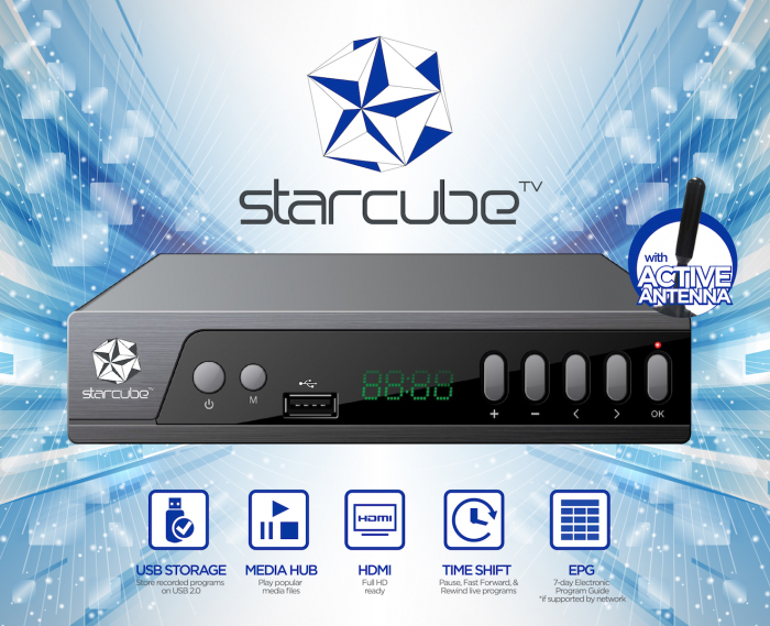 Starcube front shot copy - Meet the Starcube Digital TV Box: Watch and Record Your Favorite Shows in Cable Quality