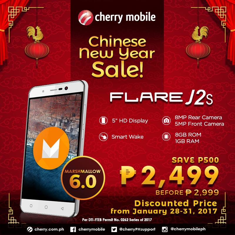 j2s1 - Get a Cherry Mobile J2S For Only PhP2,499! (From Jan. 28 to 31 only)