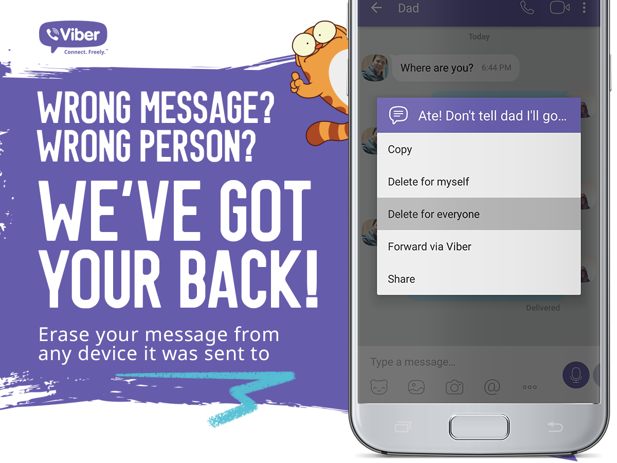 vdel - Viber Now Allows You to Delete IMs!