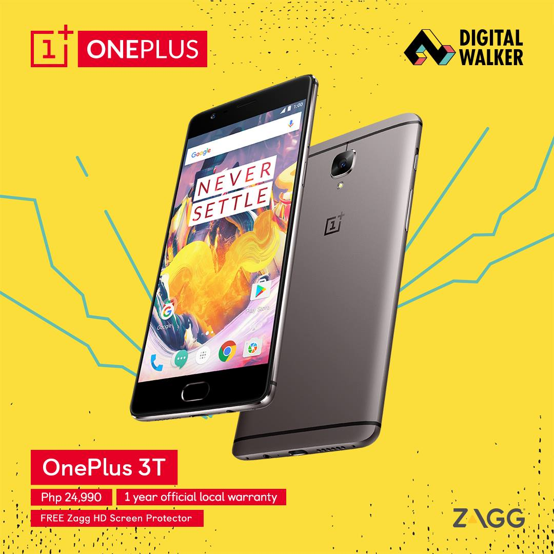 onplus3t dt - Digital Walker Brings OnePlus 3T to PH: Available Starting March 25!