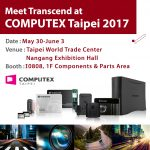 Transcend to Announce Blazing Fast PCIe SSD and Embedded Solutions at COMPUTEX 2017
