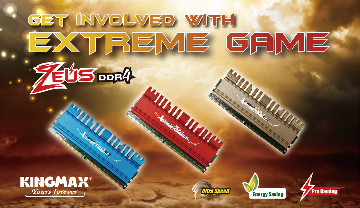 KINGMAX Launches Upgraded ZEUS DDR4 Memory for Gaming