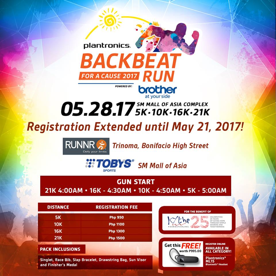 , Plantronics Backbeat Run: Registration Extended Until May 21, 2017!, Gadget Pilipinas, Gadget Pilipinas