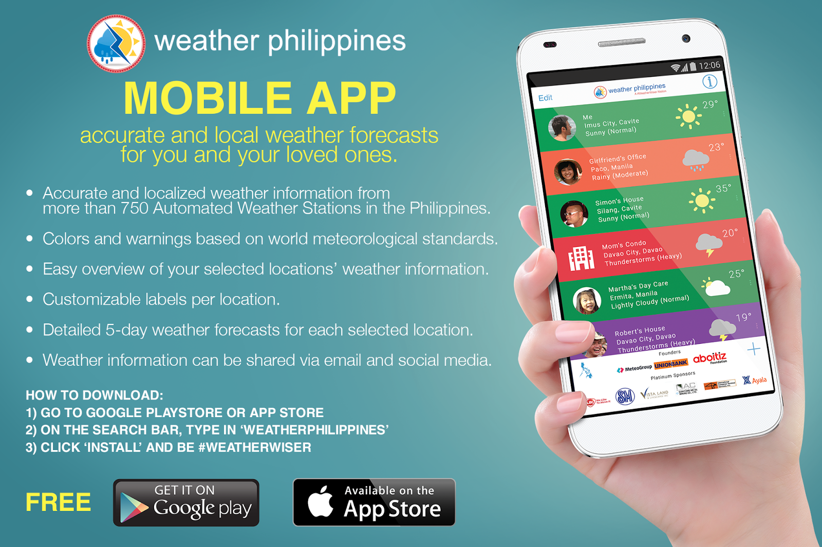 WPF app emailer ad 1 - WeatherPhilippines tells you if you need to bring an umbrella with you