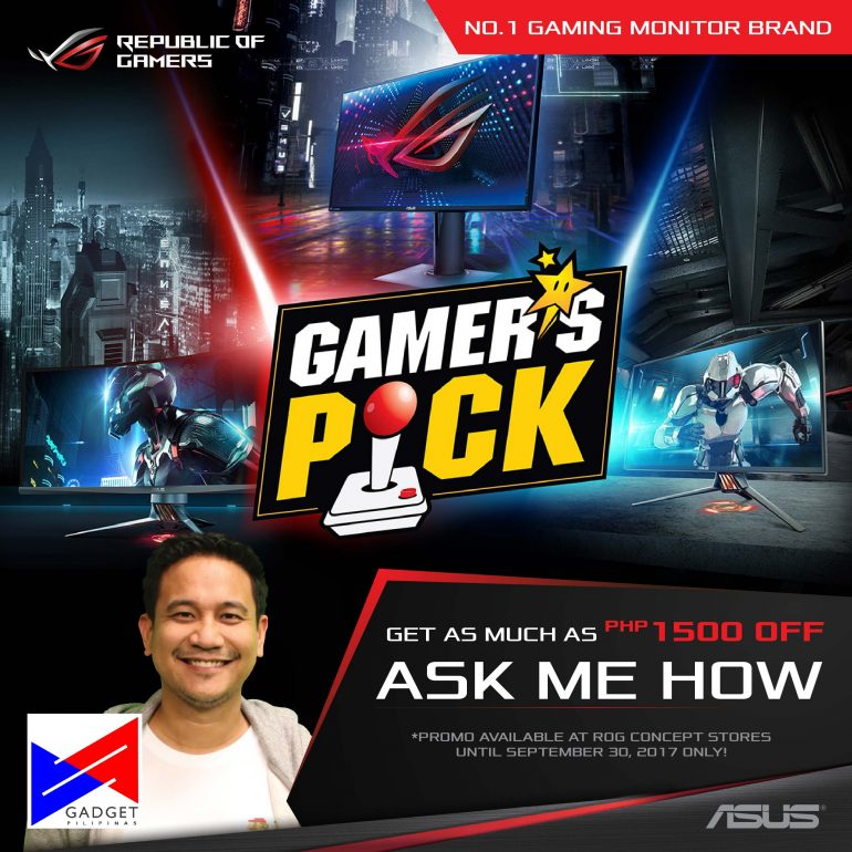 , Get as much as PhP1500 discount with this ASUS ROG Gaming Monitor Promo, Gadget Pilipinas