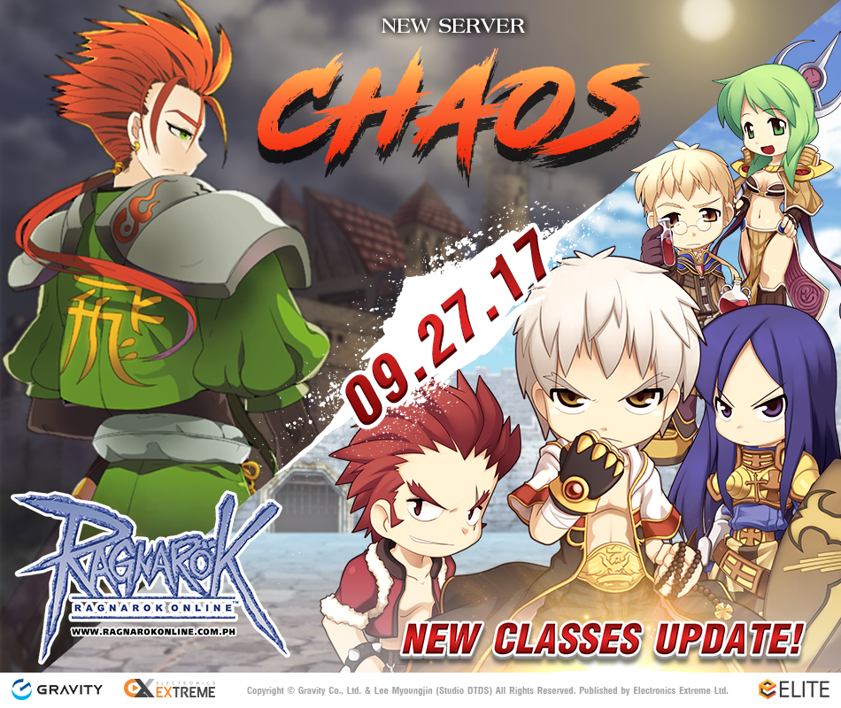 ROPH Chaos NewClesses 950x800px - Ragnarok Online PH: CHAOS Server and 2-2 Classes Go Live Today!