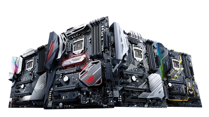 ASUS Z370 CROSS SERIES product photo 2 - ASUS Announces Z370 Motherboards for Coffee Lake CPUs