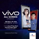 Catch the Vivo V7+ All Screen Experience Mall Tour at the SM Mall of Asia on October 20 to 22!