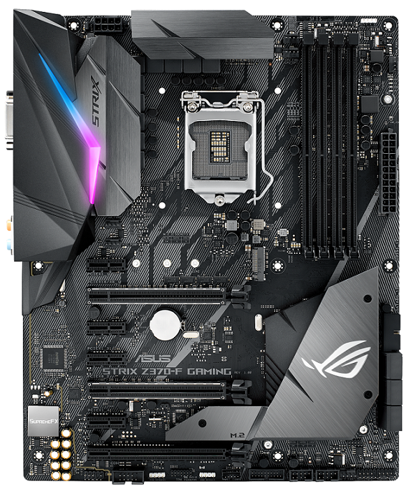 ROG STRIX Z370 F Gaming 2D 1 - ASUS ROG Maximus X and Strix Z370 Motherboards Priced: Coming this November