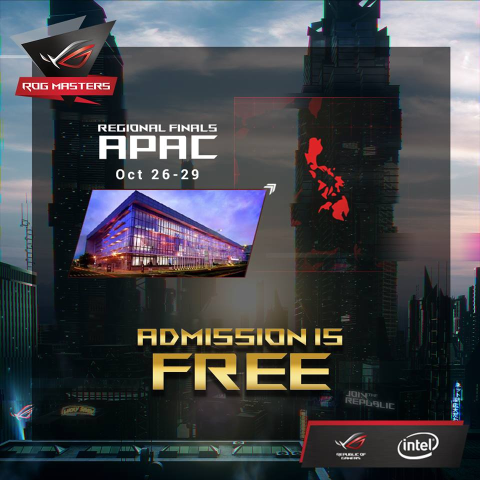 rog masters 001 - ASUS Announces More Details for Upcoming ROG Masters APAC Finals