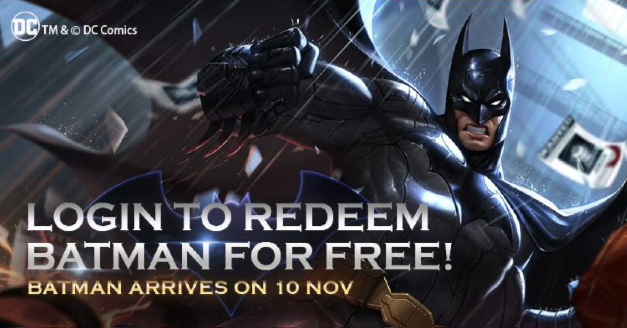 Batman Descends on AOV - Batman​​ ​​Revealed​​ ​​As​​ ​​Free​​ ​​Hero​​ ​​in​​ ​​Arena​​ ​​of​​ ​​Valor