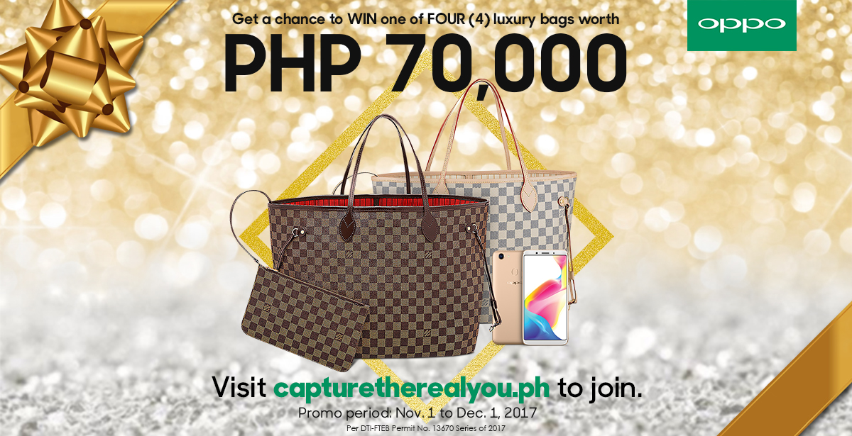 F5 Promo KV - Buy an OPPO F5 and Get a Chance to Win a Luxury Bag Worth PhP70,000!