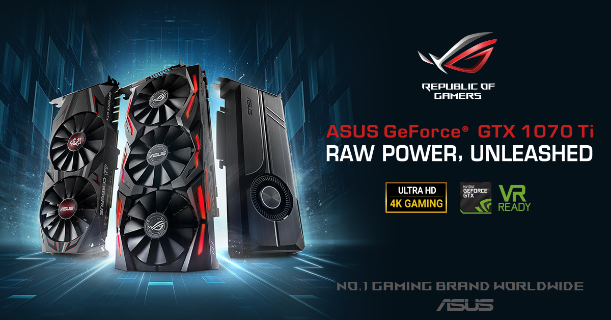 GTX1070Ti cross series 1200x628 - ASUS Launches GeForce GTX 1070Ti Series Graphics Cards in PH