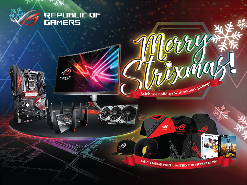 Merry Strixmas - Get a Game Bundle Plus Premium Items When You Purchase ROG Peripherals and Components!