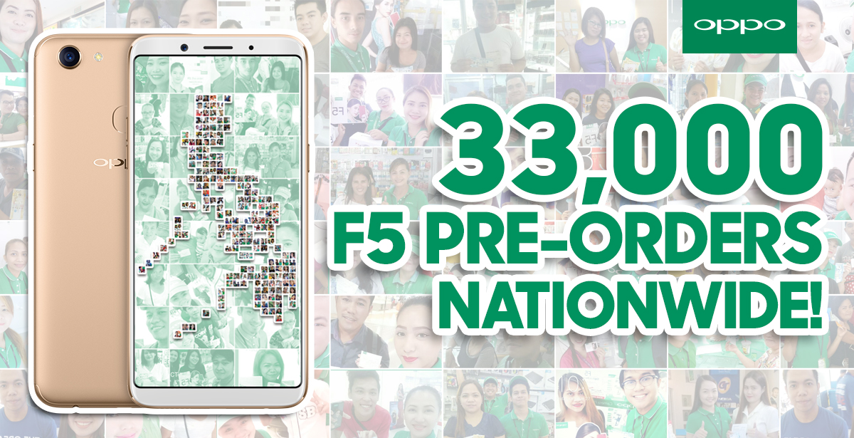 oppo f5 preorder - OPPO F5 Gets 33,000 Pre-Orders in 7 Days!