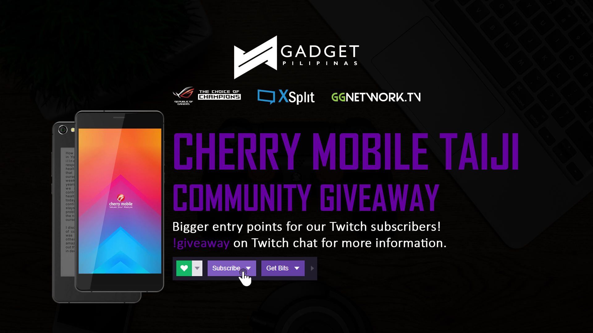 Giveaway New - Cherry Mobile Taiji Community Giveaway
