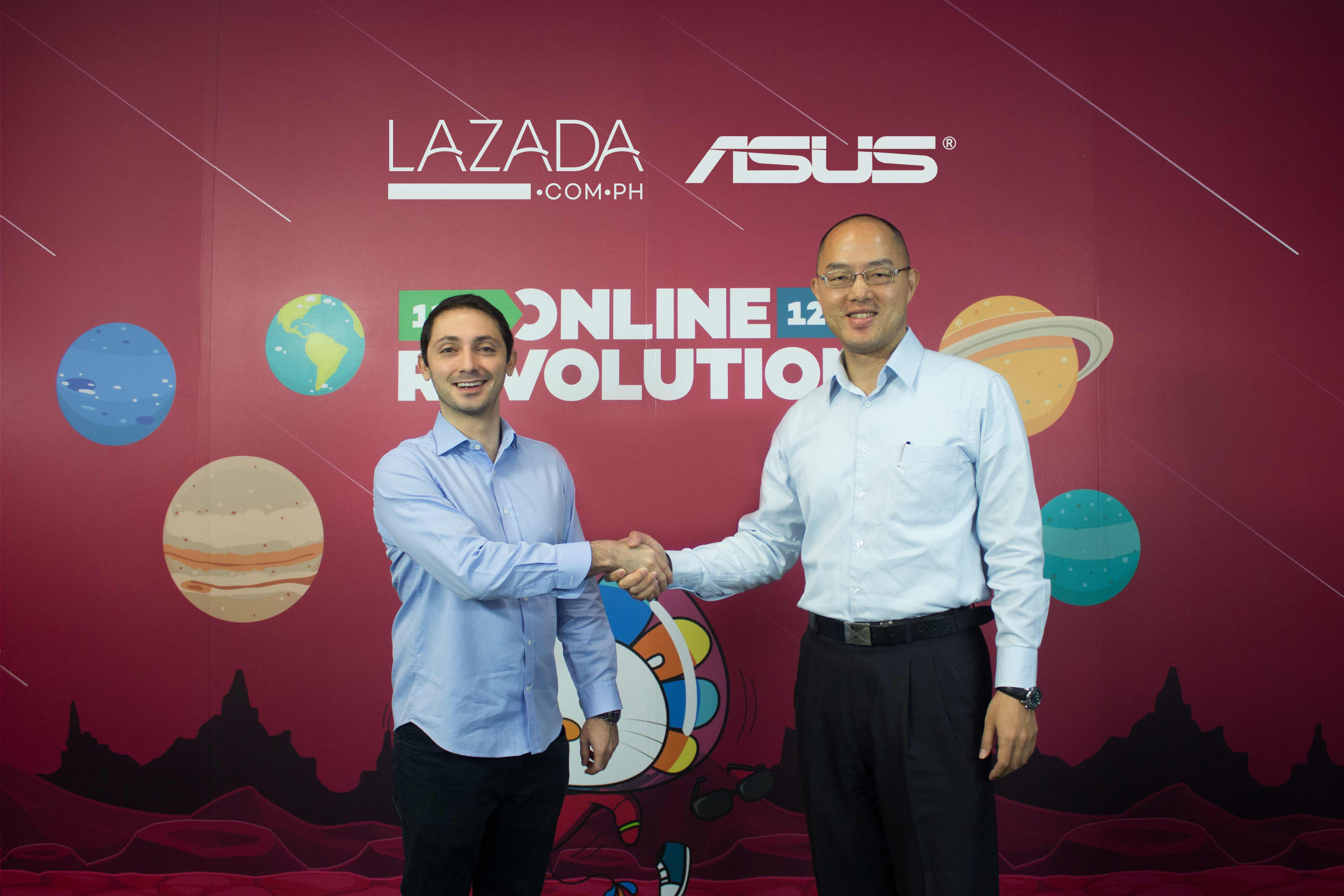 L:R Lazada Philippines' Chief Executive Officer and Co-Founder Inanc Balci with ASUS Philippines Systems Group Country Manager, George Su