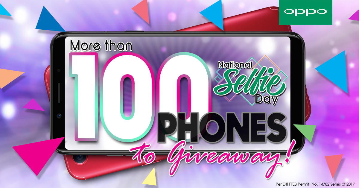 National Selfie Day KV - OPPO is Giving Away 100 Phones as Part of National Selfie Day!
