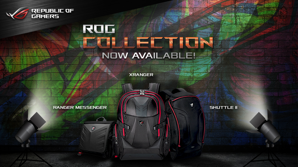 ASUS ROG Introduces its Collection of Premium Bags and Apparel!