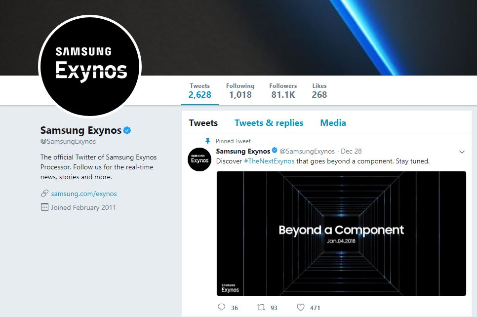 exynos 2018 - Samsung Set to Unveil its Newest Exynos SoC on January 4
