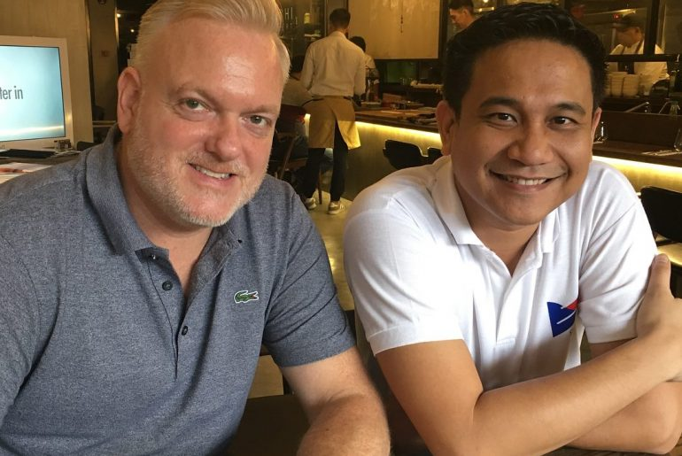 James Havell of Step Website Services and Gian Viterbo of Gadget Pilipinas / Blip Media